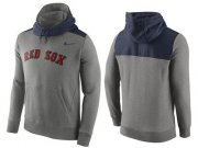 Wholesale Cheap Men's Boston Red Sox Nike Gray Cooperstown Collection Hybrid Pullover Hoodie