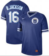Wholesale Cheap Nike Royals #16 Bo Jackson Royal Authentic Cooperstown Collection Stitched MLB Jersey