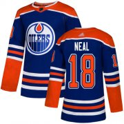Wholesale Cheap Adidas Oilers #18 James Neal Royal Alternate Authentic Stitched NHL Jersey