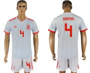 Wholesale Cheap Spain #4 Bartra Away Soccer Country Jersey