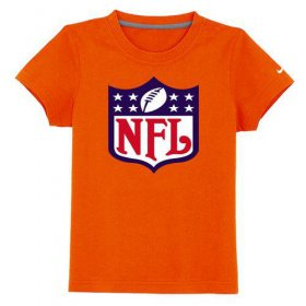 Wholesale Cheap NFL Logo Youth T-Shirt Orange