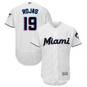 Wholesale Cheap marlins #19 Miguel Rojas White Flexbase Authentic Collection Stitched MLB Jersey