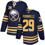 Wholesale Cheap Adidas Sabres #29 Jason Pominville Navy Blue Home Authentic Youth Stitched NHL Jersey