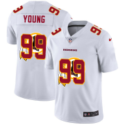 Wholesale Cheap Washington Redskins #99 Chase Young White Men's Nike Team Logo Dual Overlap Limited NFL Jersey