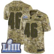 Wholesale Cheap Nike Patriots #46 James Develin Camo Super Bowl LIII Bound Youth Stitched NFL Limited 2018 Salute to Service Jersey