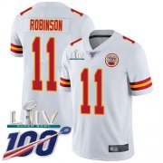 Wholesale Cheap Nike Chiefs #11 Demarcus Robinson White Super Bowl LIV 2020 Youth Stitched NFL Vapor Untouchable Limited Jersey