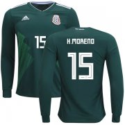 Wholesale Cheap Mexico #15 H.Moreno Home Long Sleeves Kid Soccer Country Jersey