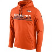 Wholesale Cheap Men's Denver Broncos Nike Sideline Circuit Orange Pullover Hoodie
