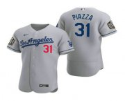 Wholesale Cheap Men's Los Angeles Dodgers #31 Mike Piazza Gray 2020 World Series Authentic Road Flex Nike Jersey