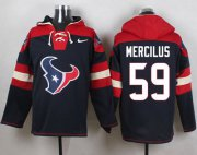 Wholesale Cheap Nike Texans #59 Whitney Mercilus Navy Blue Player Pullover NFL Hoodie