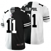 Cheap Pittsburgh Steelers #11 Chase Claypool Men's Black V White Peace Split Nike Vapor Untouchable Limited NFL Jersey