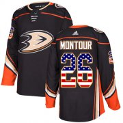 Wholesale Cheap Adidas Ducks #26 Brandon Montour Black Home Authentic USA Flag Youth Stitched NHL Jersey