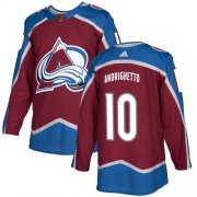Wholesale Cheap Adidas Avalanche #10 Sven Andrighetto Burgundy Home Authentic Stitched Youth NHL Jersey