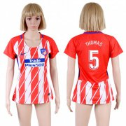 Wholesale Cheap Women's Atletico Madrid #5 Thomas Home Soccer Club Jersey