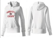 Wholesale Cheap Women's Kansas City Chiefs Heart & Soul Pullover Hoodie White