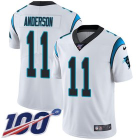 Wholesale Cheap Nike Panthers #11 Robby Anderson White Youth Stitched NFL 100th Season Vapor Untouchable Limited Jersey