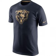 Wholesale Cheap Men's Chicago Bears Nike Navy Championship Drive Gold Collection Performance T-Shirt