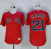 Wholesale Cheap Red Sox #21 Roger Clemens Red Flexbase Authentic Collection Stitched MLB Jersey