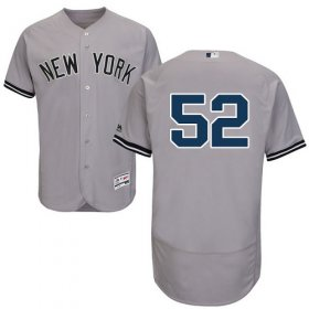 Wholesale Cheap Yankees #52 C.C. Sabathia Grey Flexbase Authentic Collection Stitched MLB Jersey