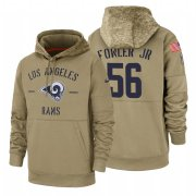 Wholesale Cheap Los Angeles Rams #56 Dante Fowler Jr Nike Tan 2019 Salute To Service Name & Number Sideline Therma Pullover Hoodie