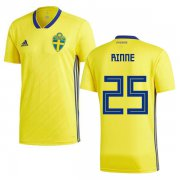 Wholesale Cheap Sweden #25 Rinne Home Soccer Country Jersey