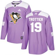 Wholesale Cheap Adidas Penguins #19 Bryan Trottier Purple Authentic Fights Cancer Stitched NHL Jersey