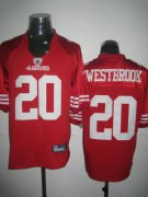 Wholesale Cheap 49ers #20 Brian Westbrook Red Stitched NFL Jersey