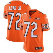 Wholesale Cheap Nike Bears #72 Charles Leno Jr Orange Men's 100th Season Stitched NFL Limited Rush Jersey