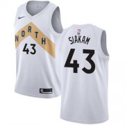 Wholesale Cheap Nike Raptors #43 Pascal Siakam White NBA Swingman City Edition Jersey