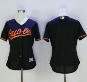 Wholesale Cheap Orioles Blank Black Women's Alternate Stitched MLB Jersey