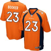 Wholesale Cheap Nike Broncos #23 Devontae Booker Orange Team Color Youth Stitched NFL New Elite Jersey