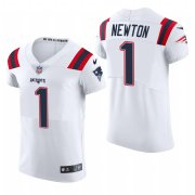 Cheap New England Patriots #1 Cam Newton Nike Men's White Team Color Men's Stitched NFL 2020 Vapor Untouchable Elite Jersey