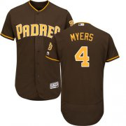 Wholesale Cheap Padres #4 Wil Myers Brown Flexbase Authentic Collection Stitched MLB Jersey