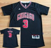 Wholesale Cheap Men's Chicago Bulls #3 Dwyane Wade New Black Short-Sleeved Stitched NBA Adidas Swingman Jersey