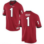 Wholesale Cheap Men's Georgia Bulldogs #1 Mark Richt Red Stitched College Football 2016 Nike NCAA Jersey