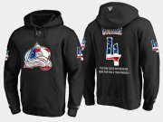 Wholesale Cheap Avalanche #4 Tyson Barrie NHL Banner Wave Usa Flag Black Hoodie