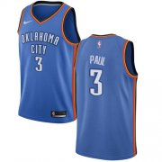 Wholesale Cheap Nike Thunder #3 Chris Paul Blue NBA Swingman Icon Edition Jersey