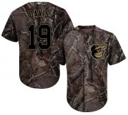 Wholesale Cheap Orioles #19 Chris Davis Camo Realtree Collection Cool Base Stitched Youth MLB Jersey