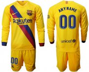 Wholesale Cheap Barcelona Personalized Away Long Sleeves Soccer Club Jersey
