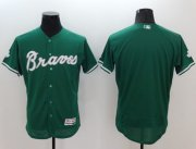 Wholesale Cheap Braves Blank Green Celtic Flexbase Authentic Collection Stitched MLB Jersey