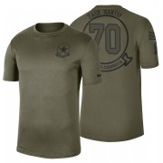 Wholesale Cheap Dallas Cowboys #70 Zack Martin Olive 2019 Salute To Service Sideline NFL T-Shirt