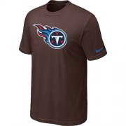 Wholesale Cheap Nike Tennessee Titans Sideline Legend Authentic Logo Dri-FIT NFL T-Shirt Brown