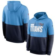 Wholesale Cheap Tennessee Titans Nike Sideline Impact Lockup Performance Pullover Hoodie Light Blue Navy