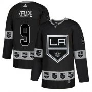 Wholesale Cheap Adidas Kings #9 Adrian Kempe Black Authentic Team Logo Fashion Stitched NHL Jersey