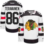 Wholesale Cheap Blackhawks #86 Teuvo Teravainen White 2016 Stadium Series Stitched Youth NHL Jersey