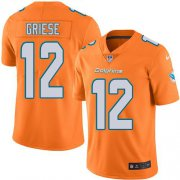 Wholesale Cheap Nike Dolphins #12 Bob Griese Orange Men's Stitched NFL Limited Rush Jersey