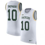 Wholesale Cheap Nike Packers #10 Darrius Shepherd White Men's Stitched NFL Limited Rush Tank Top Jersey