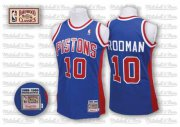 Wholesale Cheap Detroit Pistons #10 Dennis Rodman Blue Swingman Throwback Jersey