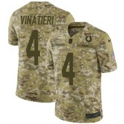 Wholesale Cheap Nike Colts #4 Adam Vinatieri Camo Men's Stitched NFL Limited 2018 Salute To Service Jersey