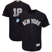 Wholesale Cheap Yankees #18 Didi Gregorius Navy Alternate 2019 Spring Training Flex Base Stitched MLB Jersey